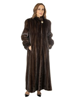 Women's Mahogany Female Mink Fur Coat