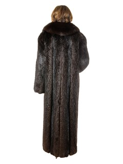 Women's Deep Brown Beaver Fur Coat