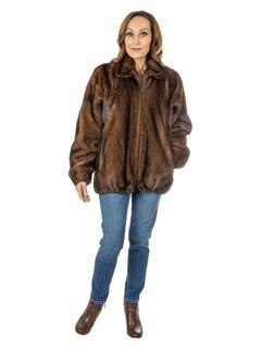 Women's Demi Buff Mink Fur Jacket