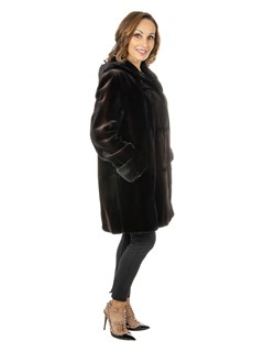 Gorski Women's Matara Degrade Sheared Mink Fur Stroller