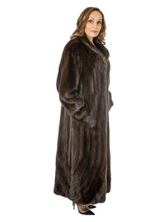 Givenchy Women's Mahogany Female Mink Fur Coat