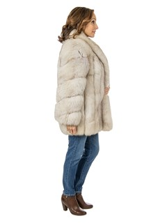 Women's Saga Blue Fox Fur Jacket