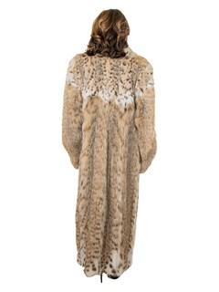 Woman's Natural Cat Lynx Fur Coat