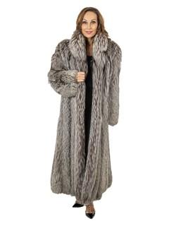 Woman's Silver Fox Fur Coat