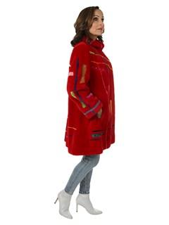 Woman's Zuki Red Sheared Beaver Fur Stroller
