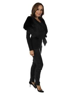 Woman's Black Fox Fur Collar
