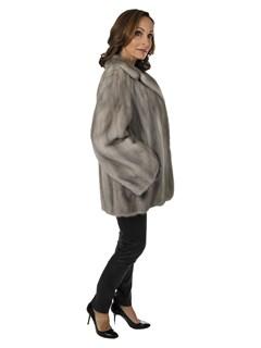 Woman's Cerulean Female Mink Fur Jacket