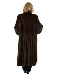 Woman's Christian Dior Mahogany Mink Fur Coat