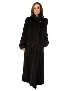 Woman's Dark Mahogany Female Mink Coat