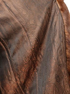 Woman's Demi Buff Female Mink Fur Coat with Directional Design