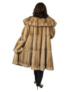 Woman's Golden Sable Fur Swing Stroller