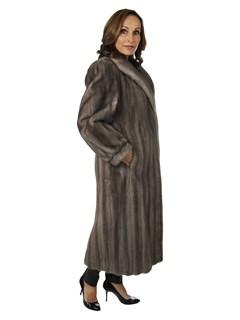 Woman's Cerulean Female Mink Fur Coat