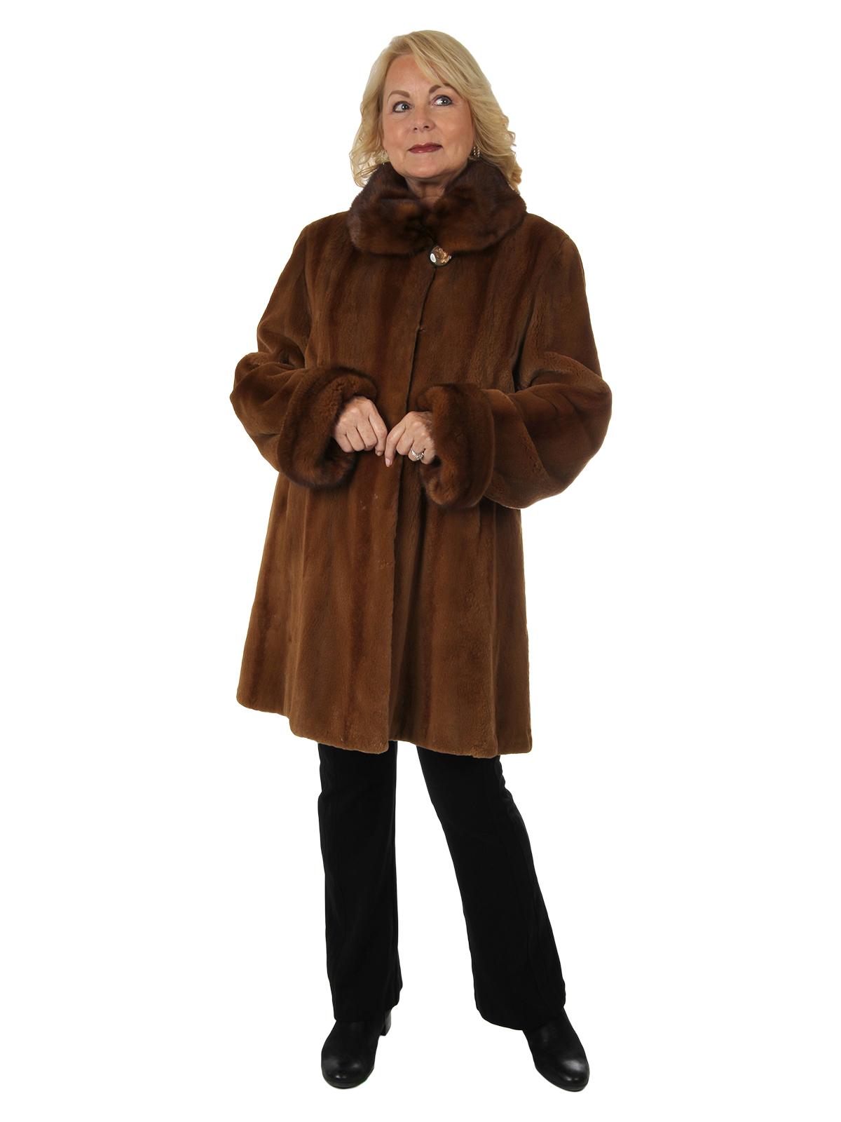 Woman's Whiskey Sheared Mink Fur Stroller