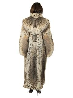 Woman's Cat Lynx Fur Coat