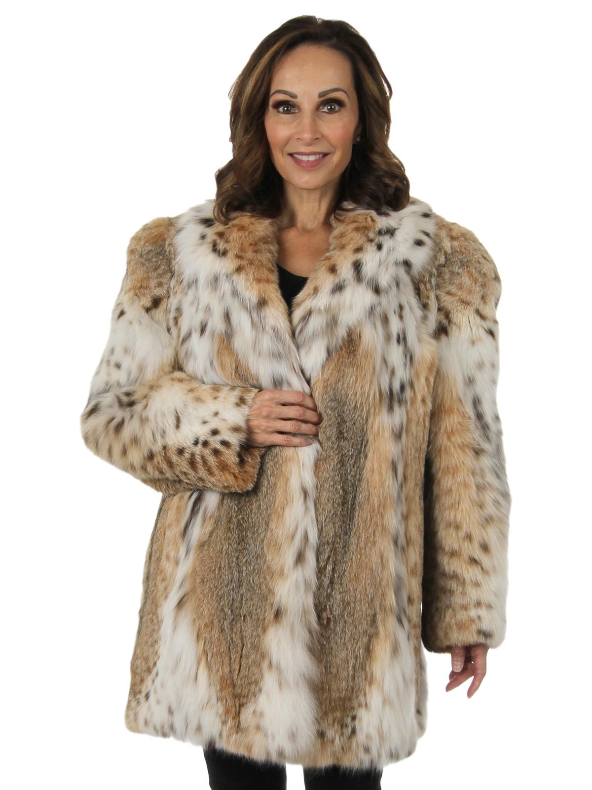 Woman's Cat Lynx Fur Stroller