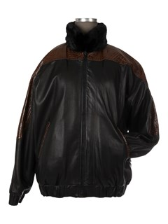 Unisex Ranch Mink Fur Jacket Reverses to Leather