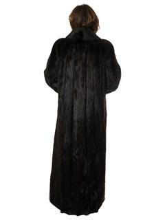 Woman's Ebony Long Hair Beaver Fur Coat