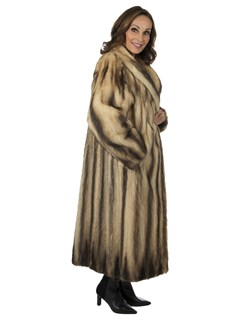 Woman's Fitch Fur Coat