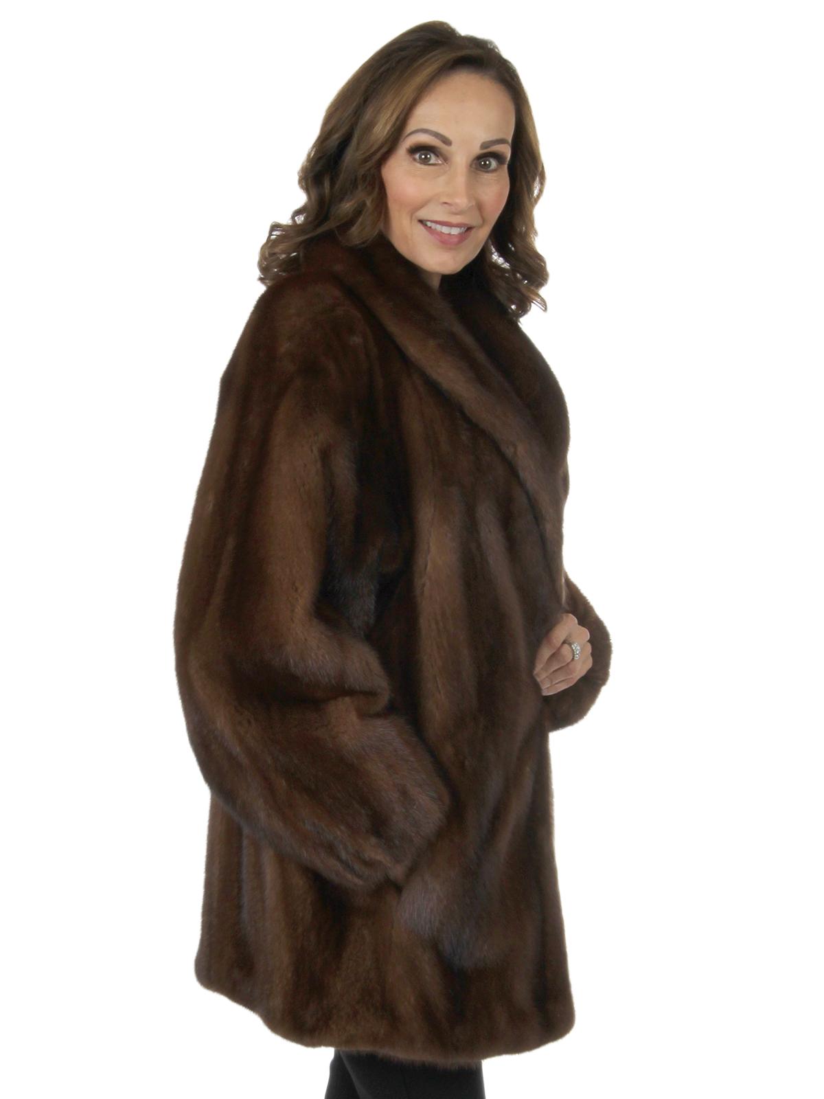 Woman's Demi Buff Mink Fur Jacket