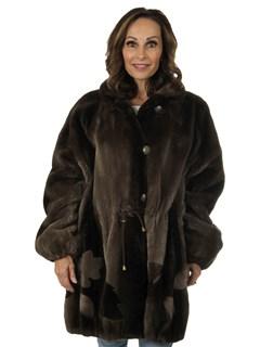 Woman's Louis Féraud Phantom Sheared Beaver Fur Stroller