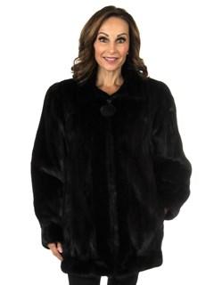 Woman's Deepest Mahogany Mink Fur Jacket