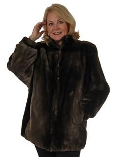 Woman's Phantom Sheared Beaver Fur Stroller