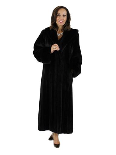 Ranch Female Mink Fur Coat w/ Hood