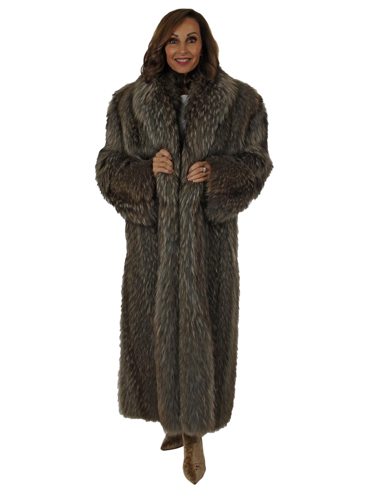 Woman's Finn Raccoon Fur Coat
