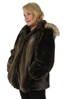 Woman's Phantom Sheared Beaver Fur Parka