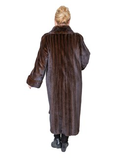 Woman's Deep Mahogany Female Mink Fur Coat