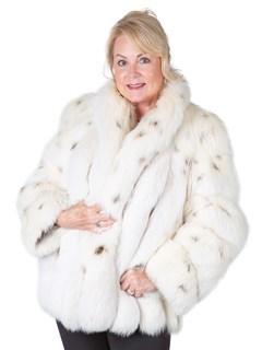 Woman's Lynx Dyed Fox Fur Jacket