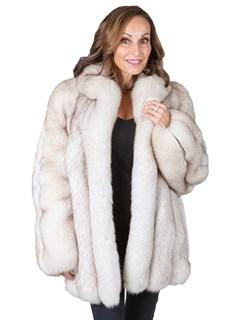 Woman's Blue Fox Fur Jacket