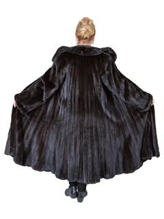 Woman's Ranch Female Mink Fur Flared Swing Coat