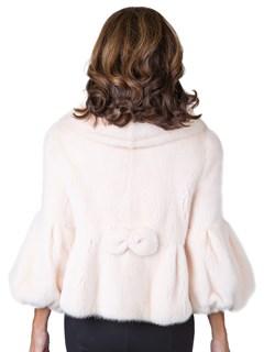 Woman's Blush Female Mink Fur Jacket