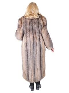 Woman's Crystal Fox Fur Coat