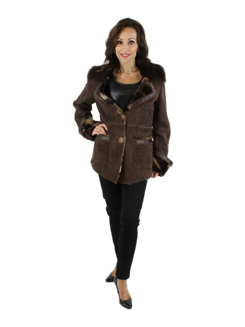 NEW Woman's Shearling Lamb Jacket