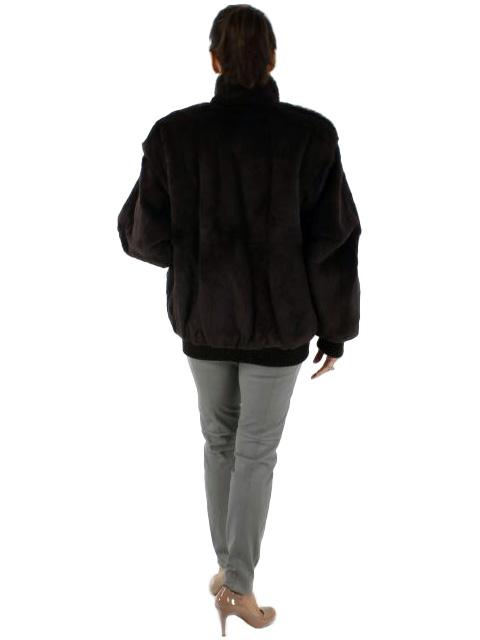 Sheared Brown Rabbit Fur Jacket