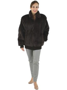 Sheared Brown Rabbit Fur Jacket