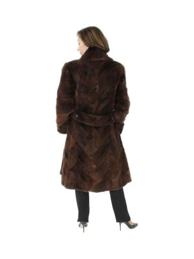Sheared Muskrat Fur Coat