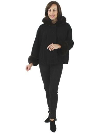 Black Persian Lamb Coat
