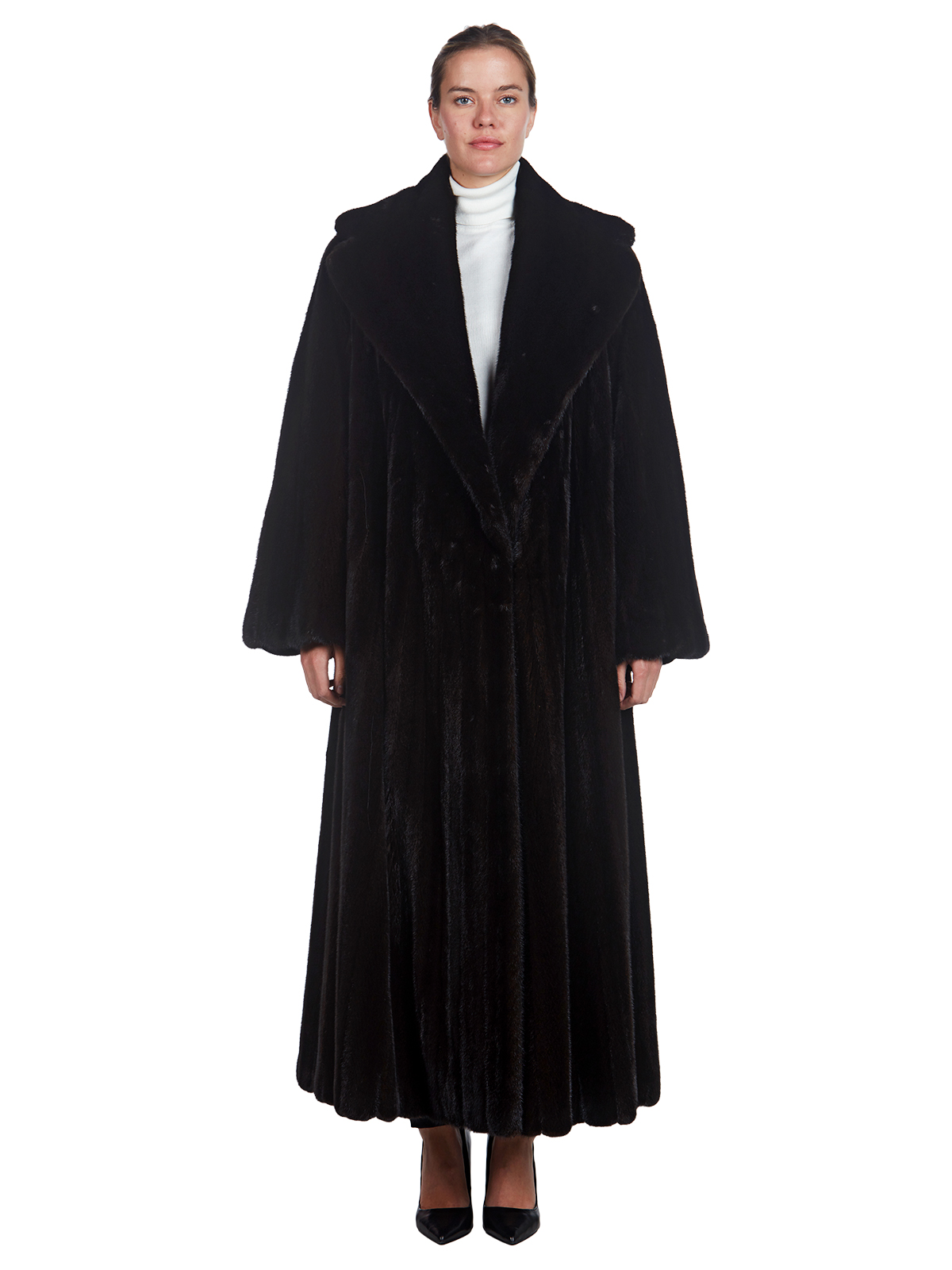 Woman's Ranch Mink Fur Coat, by Donna Karan