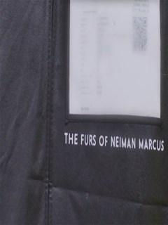Woman's Black Fabric Raincoat with Sheared Mink Fur