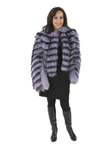 Feathered Fox Fur Bolero Jacket