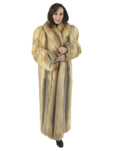 Stunning Woman's  Full Length Golden Isle Fox Coat