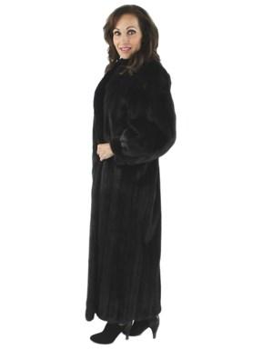 Full Length Ranch Mink Fur Coat