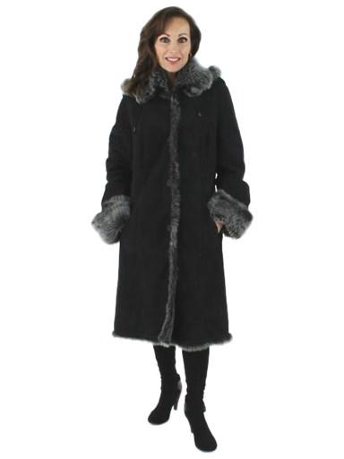 Snow Top Fleece Shearling Suede Stroller