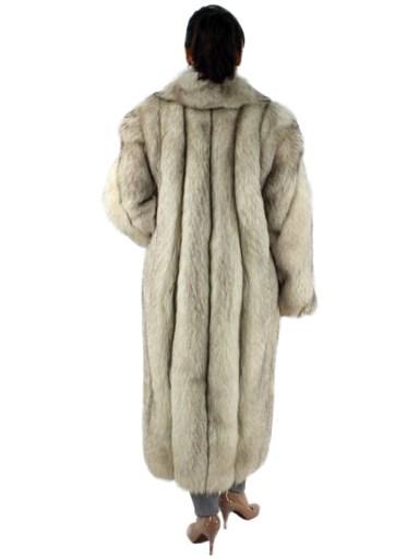 Natural Blue Fox Fur Coat