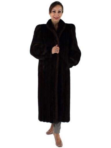 Full Length Mink Fur Coat - Women's Small