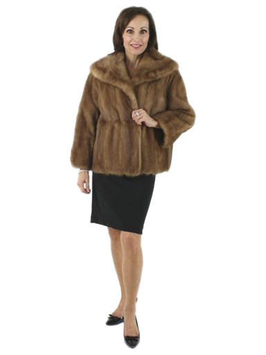 Vintage Evening Out Autumn Haze Mink Fur Jacket