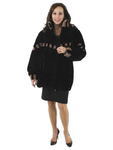 Sheared Beaver Fur Reversible